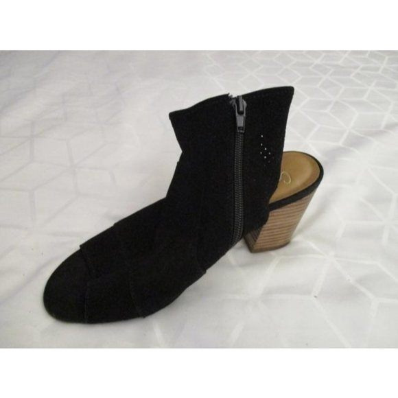 *Crown Vintage MOD Black ASTAREWIA Suede Peep Toe